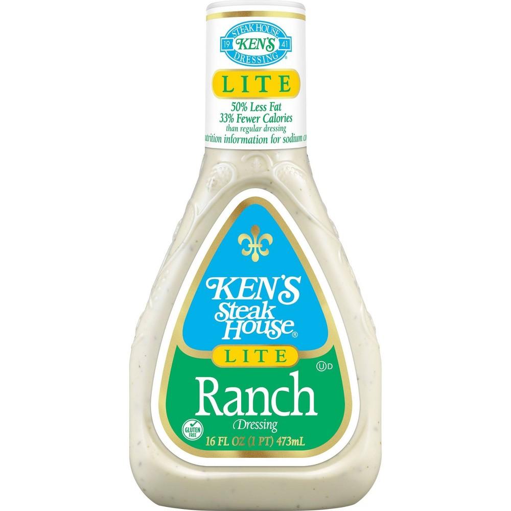 Ken 39 S Steak House Lite Ranch Salad Dressing 16 Floz