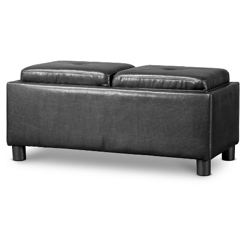 Billiard Ottoman Black - Baxton Studio - image 1 of 3