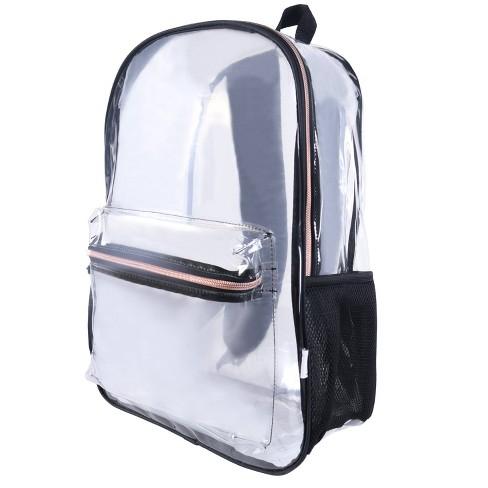 """Crckt 17"""" Clear Backpack - Black - image 1 of 8"""