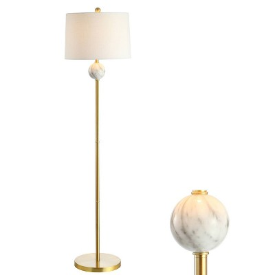 "60"" Metal/Resin Vaughn Modern Floor Lamp (Includes LED Light Bulb) Gold - JONATHAN Y"