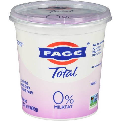 FAGE Total 0% Milkfat Plain Greek Yogurt - 35.3oz - image 1 of 3
