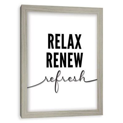 Relax, Renew, Refresh  Screened Glass Poster Frame - Threshold™
