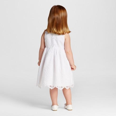 Toddler girls scalloped lace flower girl dress tevolio white 2t toddler girls scalloped lace flower girl dress tevolio white 2t target mightylinksfo