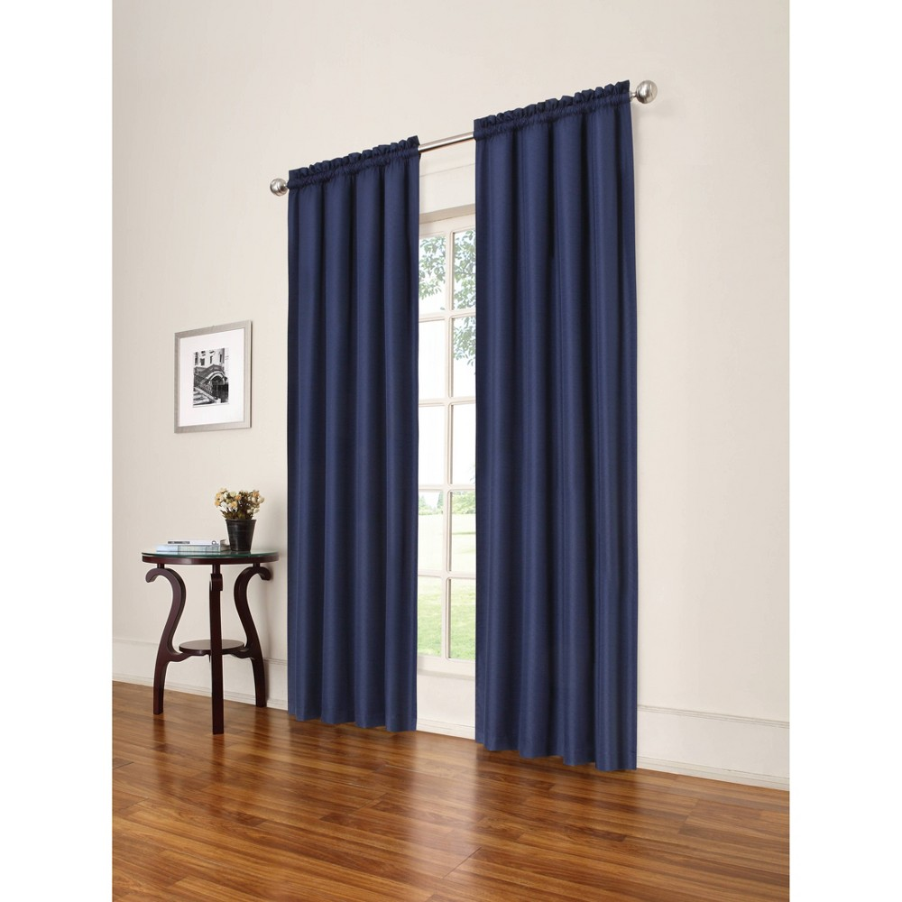 84 34 X 42 34 Braxton Thermaback Blackout Window Curtain Panel Blue Eclipse