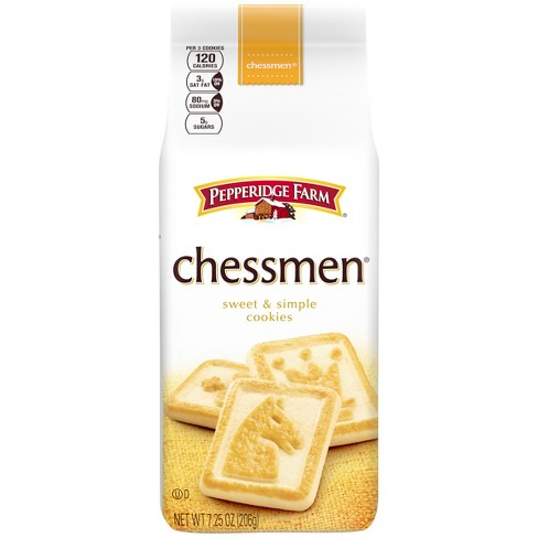Pepperidge Farm® Chessmen® Butter Cookies, 7.25oz Bag - image 1 of 6