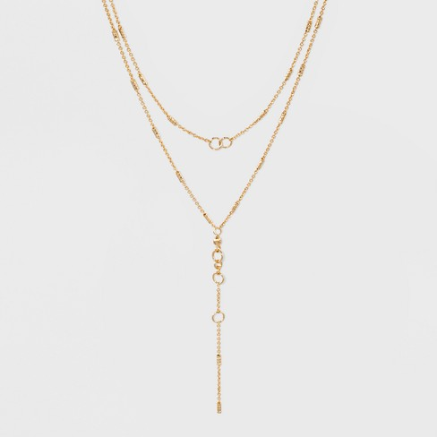 SUGARFIX by BaubleBar Embellished Layered Necklace - Gold - image 1 of 3