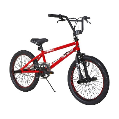 Dynacraft 20 Inch Air Zone Badlands Bicycle with Front and Back U Breaks, Freestyle Handlebar Rotor, Kickstand and Peg Accessories for Boys