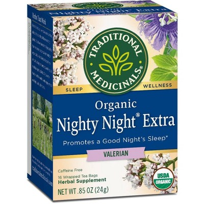 Tea Bags: Traditional Medicinals Nighty Night Extra Tea Bags