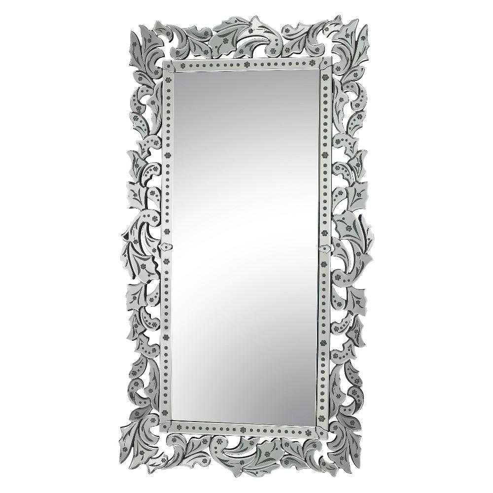 Rectangle Venetian Decorative Wall Mirror - Lazy Susan, Clear