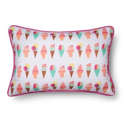 Ice Cream Throw Pillow (18 x12 )- Pillowfort™