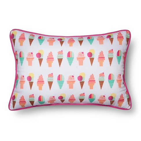 "Ice Cream Throw Pillow (18""x12"") - Pillowfort™ - image 1 of 1"