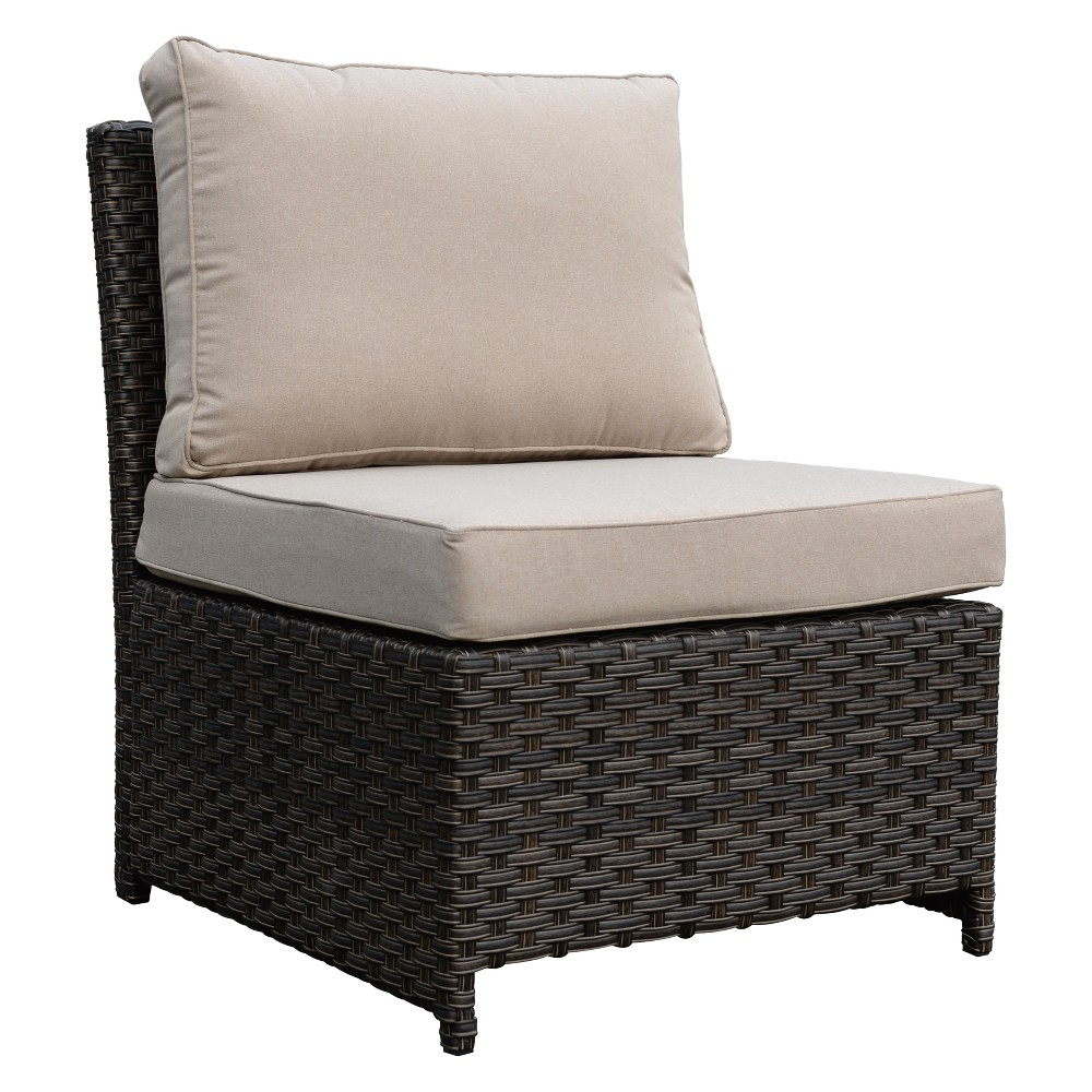 Rooftop Outdoor Chair with Cushions - Brown - Courtyard Casual