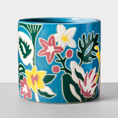 Floral Planter Turquoise - Opalhouse™