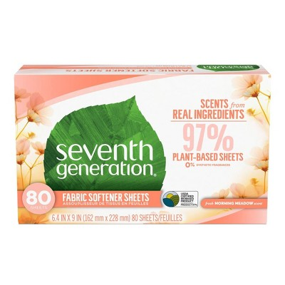 Seventh Generation Fabric Sheets - Morning Meadow - 80ct