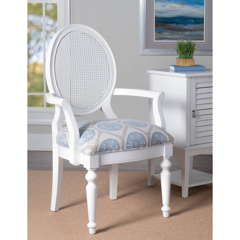 Adley Rattan Accent Chair White - Powell Company - image 1 of 4