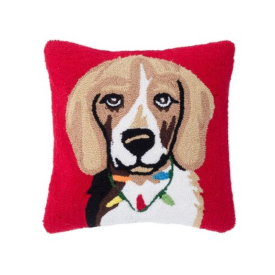 """C&F Home 18"""" x 18"""" Beagle Hooked Pillow"""