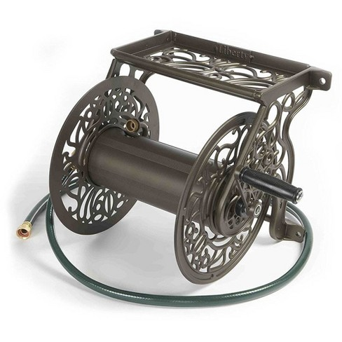 Liberty Garden 704 125 Foot Steel Decorative Garden Hose Wall Mounted Reel - image 1 of 4
