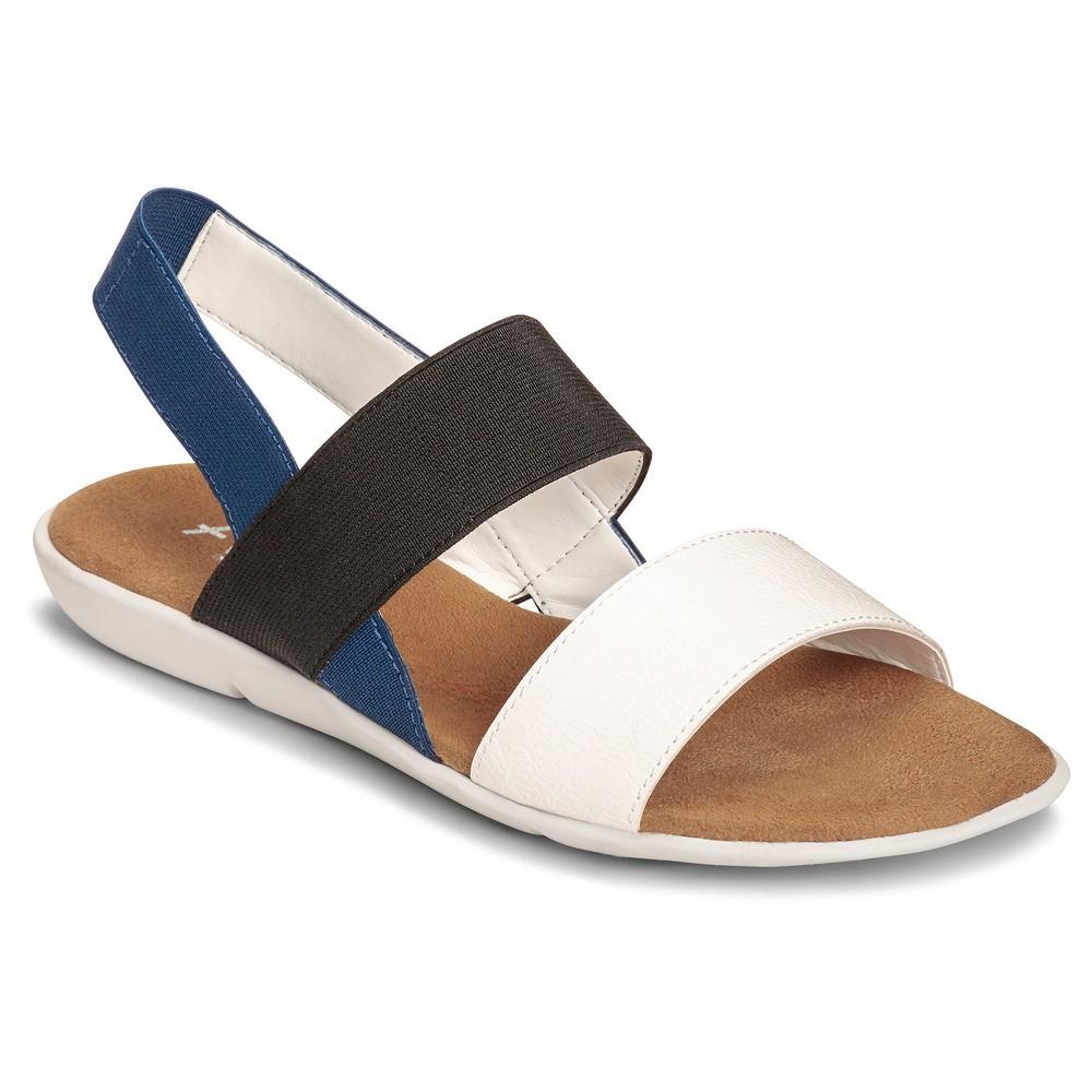 Women's A2 by Aerosoles Savant Double Strap Flat Sandals - White 8