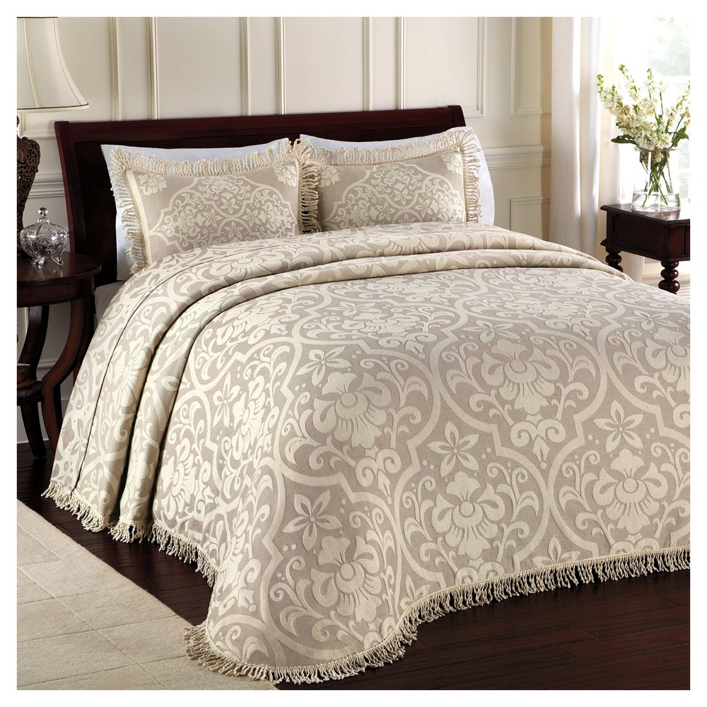 Linen All Over Brocade Bedspread (King) - LaMont HomeËŠ