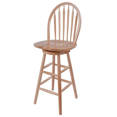 """Swivel 24"""" Counter Height Barstool Hardwood/Natural - Winsome"""