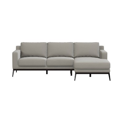 Setoril Modern Sectional Sofa with Chaise Woven Linen - Handy Living