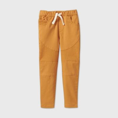 Toddler Boys' Moto Pull-On Pants - art class™ Gold 12M