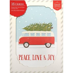 16ct Christmas Camper Holiday Boxed Greeting Cards