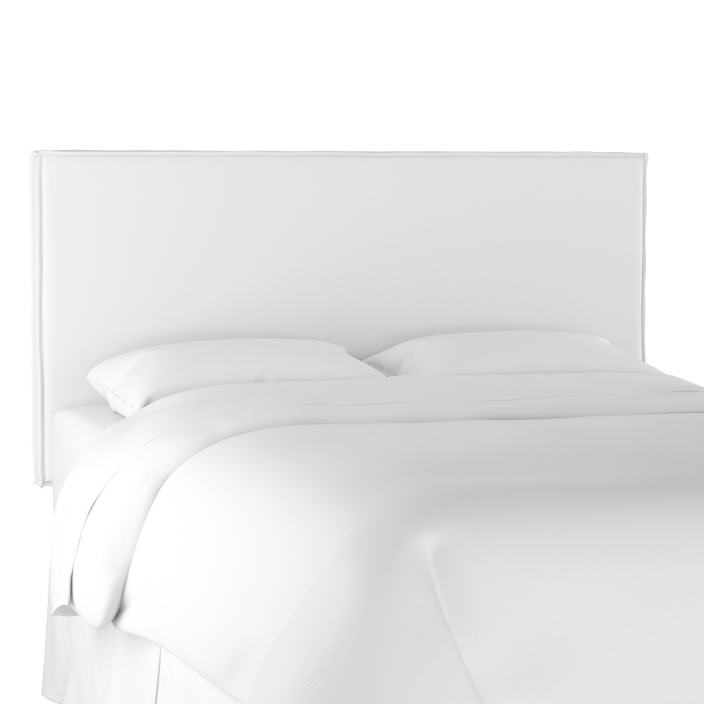Queen French Seam Slipcover Headboard Twill White - Simply Shabby Chic