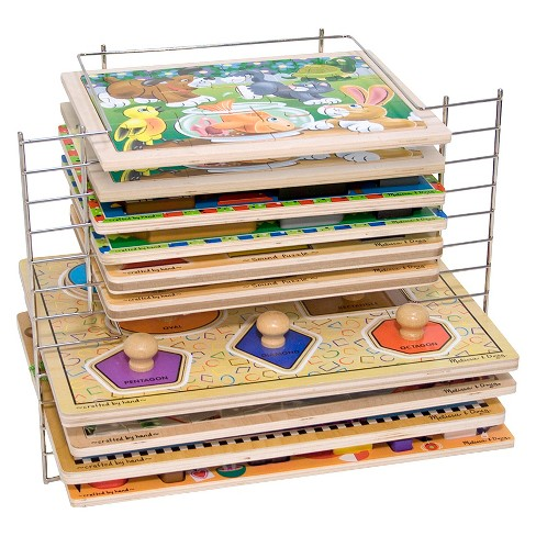 Melissa & Doug® Deluxe Metal Wire Puzzle Storage Rack for 12 Small and Large Puzzles - image 1 of 5