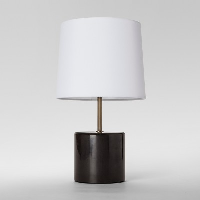 Modern Marble Accent Table Lamp Black (Includes Energy Efficient Light Bulb)- Project 62™