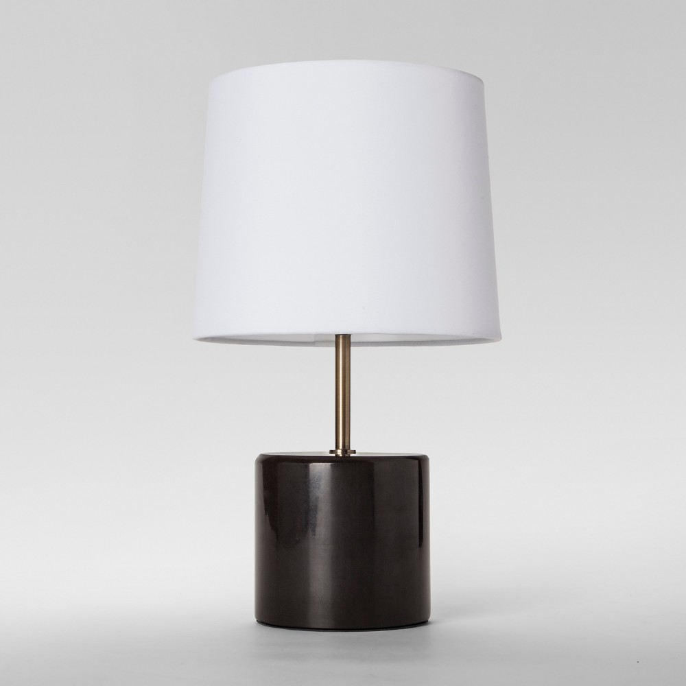 Modern Marble Accent Table Lamp Black Includes Energy Efficient Light Bulb - Project 62