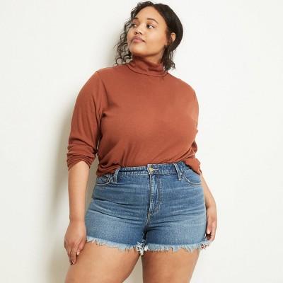 Women's Plus Size Long Sleeve Turtleneck Knit Shirt - Ava & Viv™