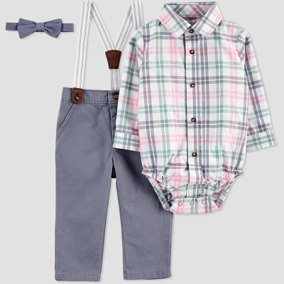 Baby Boys' Easter Dressy Plaid Top & Bottom Set - Just One You® made by carter's Newborn