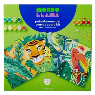 4pk Paint-By-Number Canvas Board Kit Jungle - Mondo Llama™