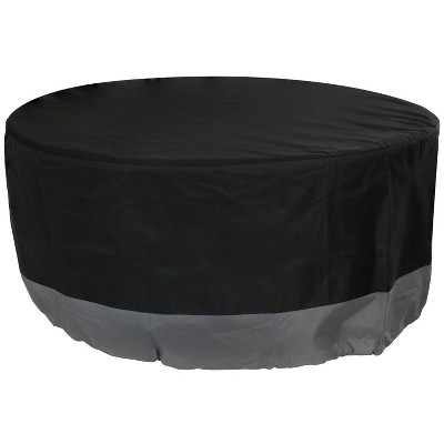 """30"""" Round 2-Tone Outdoor Fire Pit Cover - Gray/Charcoal - Sunnydaze Decor"""