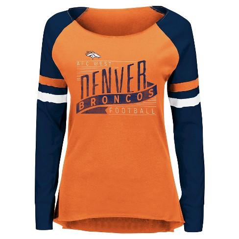 huge selection of b753f 4f45a Denver Broncos Women's Long Sleeve Raglan Baseball T-Shirt S