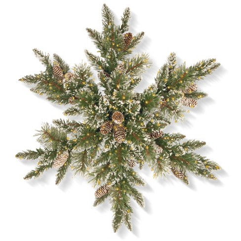 "30"" Glittery Bristle Pine Snowflake with LED Infinity Lights - National Tree Company - image 1 of 1"