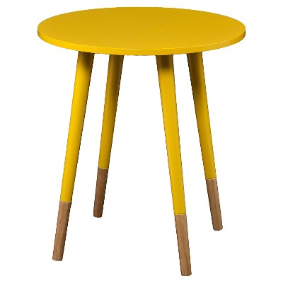 Merveilleux Laney Round Accent Table Yellow   Aiden Lane