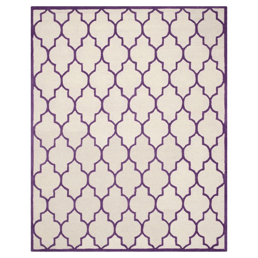 6'X9' Geometric Area Rug Ivory/Purple - Safavieh