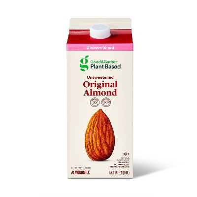 Unsweetened Original Almond Milk - 0.5gal - Good & Gather™