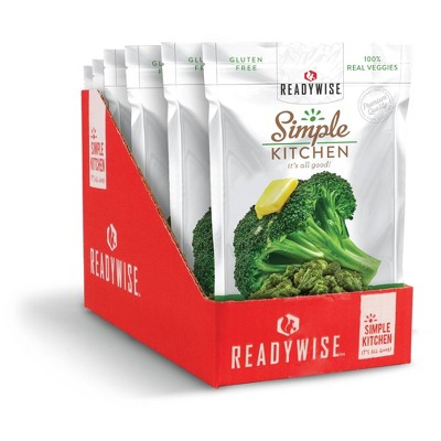 ReadyWise Simple Kitchen Buttered Broccoli Freeze-Dried Vegetables - 3.6oz/6ct