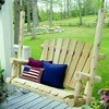 Lakeland Mills 4 Ft Rustic Cedar Wood Log Outdoor Porch Swing Furniture, Natural - image 2 of 2