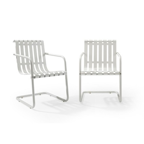 2pk Gracie Outdoor Metal Chair White - Crosley - image 1 of 5