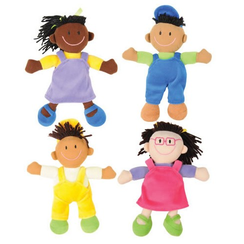 Kaplan Early Learning Company Cultural Awareness Soft Dolls  - Set of 4 - image 1 of 2