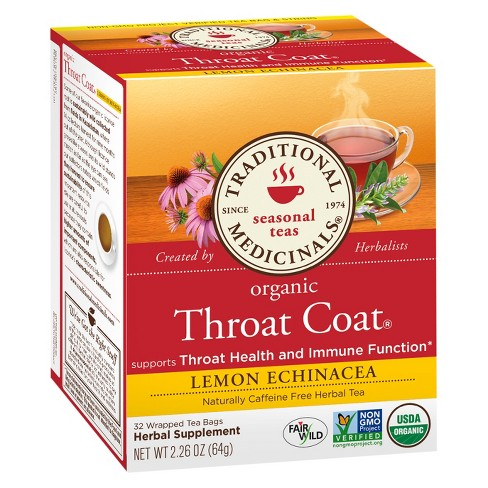 Organic Throat Coat Lemon Echinacea - 32 ct - image 1 of 1