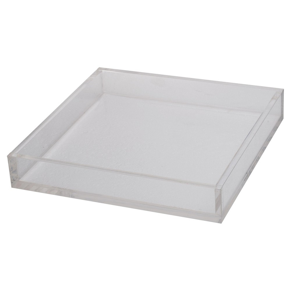 Image of Acrylic Westby Square Tray - Medium - A&b Home, Clear