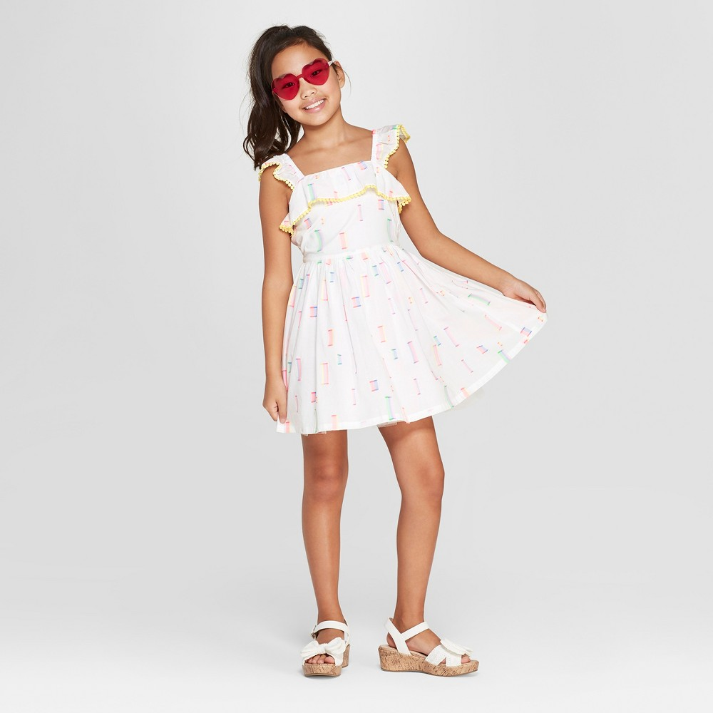 Girls' Dressy Dress - Cat & Jack White XL