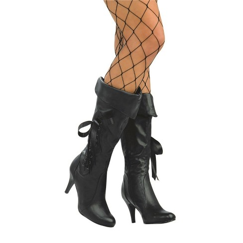 Women's Pirate Costume Boots - Black - image 1 of 1