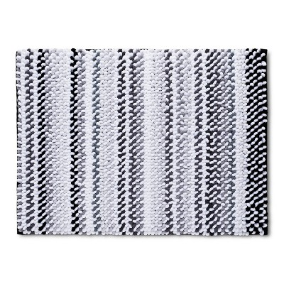 "17""x24"" Loop Memory Foam Accent Bath Rug Gray - Room Essentials™"