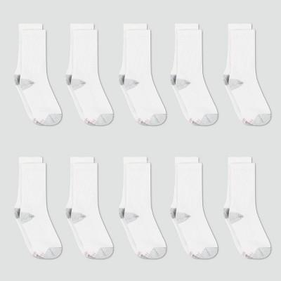 Hanes Women's Cushioned 10pk Crew Socks 5-9